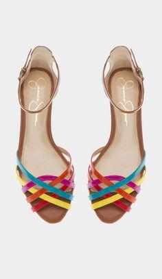 Jessica Simpson rainbow heels