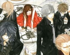Find images and videos about vampire knight, zero kiryu and yuuki cross on We Heart It - the app to get lost in what you love. Yuki And Kaname, Yuki Kuran, Manga Art, Manga Anime, Yuki And Zero, Dengeki Daisy Manga, Matsuri Hino, Vampire Knight Zero, Gothic Fantasy Art