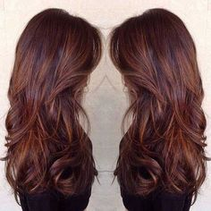 Caramel and butterscotch balayage ombré. Beautiful rich warm brown with caramel and butterscotch hair melting ombré to give an amazing effect.