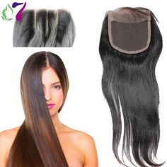 33.81$  Buy here - http://aincv.worlditems.win/all/product.php?id=32404402567 - 8A Virgin Hair Lace Closure 5x5 Peruvian Straight  Closure Human Hair Closure With Bleached Knots Free Middle 3 Part Closures