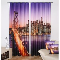 Fialový záves San Francisco - My site Textiles, Teak, San Francisco, Windows, Curtains, Home Decor, Homemade Home Decor, Window, Interior Design