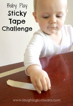 Sticky tape challenge for babies is a fun activity that develops their fine motor skills and more