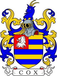 Cox Family Crest and Coat of Arms