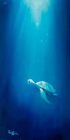Friends Along The Way Baby Drawing, Drawing For Kids, Cool Art Drawings, Cool Artwork, Hipster Beach, Sea Turtle Art, Under The Ocean, Underwater Lights, Turtle Painting