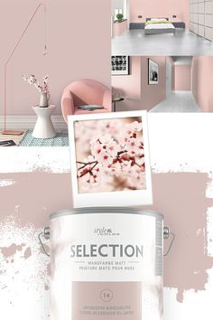 Premium wall paint StyleColor SELECTION color 14 Japanese cherry blossom l . Premium wall paint StyleColor SELECTION color 14 Japanese cherry blossom l – Blossom Premium Wandfarbe StyleColor SELECTION Farbton 14 Japanische Kirschblüte l … 0 Source by Living Room Accents, Home Accents, Murs Roses, Game Room Kids, Living Room Turquoise, Small Hall, Large Family Rooms, High Pictures, Funny Vines