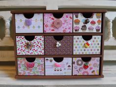 Jewelry Box Cupcakes Sweets Candy Organizer Trinkets Chest Collectibles Treasure Chest