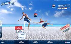 PEPSI FOOTVOLLEY WEBSITE / Creative Direction, Art Direction, Web Design