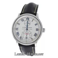 Men's Ulysse Nardin Marine Chronometer 1846 Ref. 263-22 Automatic Steel Watch