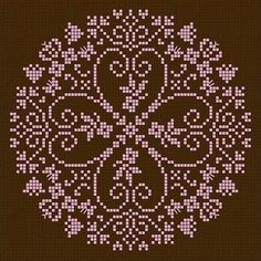 Would make a beautiful wall cross-stitch mural Biscornu Cross Stitch, Cross Stitch Pillow, Cross Stitch Needles, Cross Stitch Heart, Cross Stitch Borders, Cross Stitch Flowers, Cross Stitch Designs, Cross Stitching, Cross Stitch Embroidery
