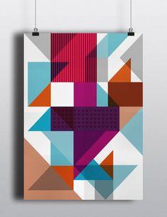 Poster Conexão Geométrica - Artista James Passos
