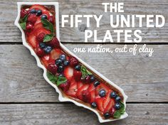 The Fifty United Plates, Porcelain Trays In The Shape of Every US State - it would be awesome to get one for each state we've lived in! <3