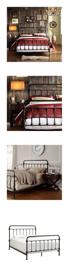 Beds and Bed Frames 175758: Queen Size Bed Vintage Antique Iron Victorian Metal Headboard Footboard Frame -> BUY IT NOW ONLY: $289.99 on eBay!
