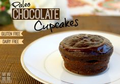 Paleo Chocolate Cupcakes (Gluten free, Dairy free)  #HollywoodHomestead