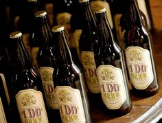 I Do Brew... own brew...bottled and labeled as wedding gifts! That's awesome!