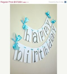 "Frozen Banner for Birthday. This Confetti Momma ""Glitter Happy Birthday"" banner is so irresistible! It can be such a chic party centerpiece for your Frozen, Winter Wonder Frozen 3rd Birthday, Frozen Birthday Party, 4th Birthday Parties, Happy Birthday Banners, Frozen Party, Birthday Party Decorations, Third Birthday, Birthday Ideas, Ideas Prácticas"