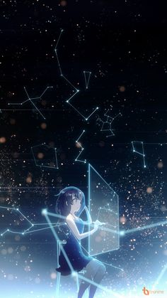 Assigned to arrange your destiny Kawaii Anime Girl, Anime Art Girl, Anime Galaxy, Galaxy Art, Anime Scenery Wallpaper, Anime Artwork, Galaxy Wallpaper, Galaxy Drawings, Galaxy Painting