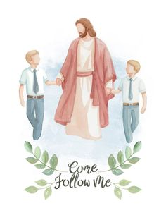 "LDS Paintings and Portraits on Instagram: ""We've asked you if you wanted this option of the Saviour walking with two children and the answer was yes! So here it is! More options will…"""