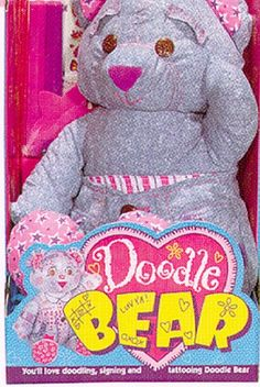 Doodle Bear. I was obsessed, pretty sure my mom re-washed mine at least a hundred times... I still want a doodle bear! :)