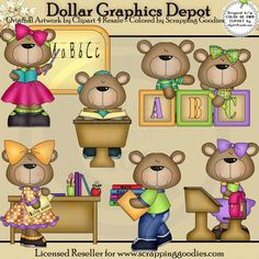 Teaching Bears - $1.00 : Dollar Graphics Depot, Your Dollar Graphic Store