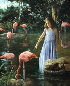 The Pink Sanctuary, 20 x 16, oil on masonite, SOLD - David M. Bowers