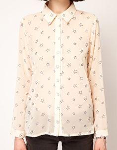 Sister Jane Chiffon Glitter Star Shirt