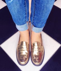 Having a metallic moment with Cole Haan!