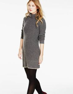 Rib Stitch Tunic Dress
