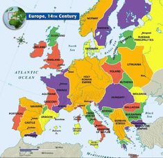 Medieval Map of Europe - Map of Europe, Century – from Mr. Colwell's Grade World History Class - History Class, World History, Family History, European History, Ancient History, Ancient Aliens, American History, History Medieval, Old Maps