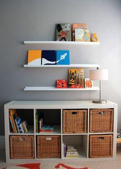 Like the open vs basket option for organizing toys & books