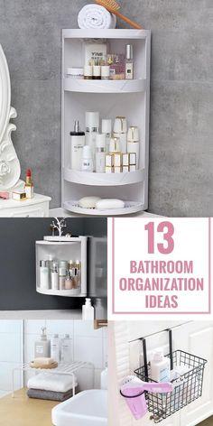 Small Bathroom Organization, Home Organization, Organizing Ideas, Under Bathroom Sink Storage, Hair Product Organization, Medicine Cabinet Organization, Shower Storage, Deco Studio, Tiny Studio