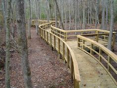 Pedestrian Boardwalk with scenic overlook built by Nature Bridges using our top down construction method.
