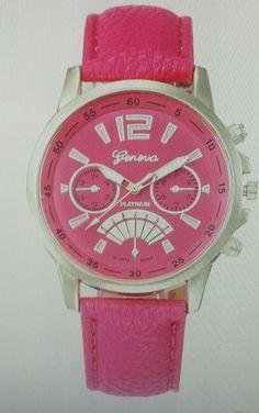 Fashion New  Geneva Women Leather Band Stainless Steel Quartz Analog Wrist Watch #1989_2019 #FashionCasual