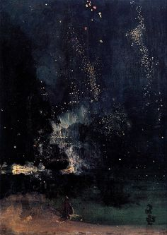 'Nocturne in Black and Gold: The Falling Rocket', James Whistler, c.1875
