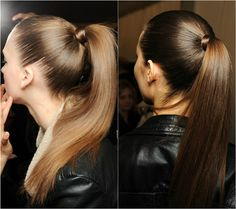 slick straight ponytail hairstyle by clip in silky straight human hair extension clip in