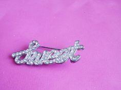 Vintage Rhinestone Jewelry  / Silver Brooch / Pin / Rhinestone Brooch / Pin / Sweet Brooch / Pin / Baker's  Jewelry / Sweet Sixteen Jewelry by TamJewelryandUniques on Etsy