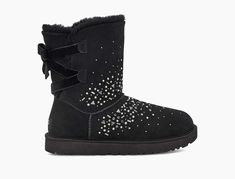 Classic Galaxy Bling Short Cool Shoes For Women, Galaxy Pattern, Ugg Classic, Short Boots, Black Leather Boots, Ugg Shoes, Black Silver, Rain Boots, Uggs