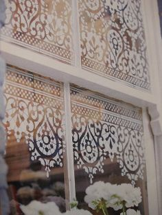 STENCIL LACE DESIGN AS A WINDOW COVERING