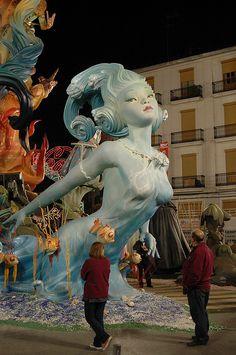 falla convento de jerusalen (Valencia - Spagna) Samba, Styrofoam Art, Valencia City, Festivals Around The World, Fantasy Places, Sculpture, Spain Travel, Art Techniques, The Little Mermaid