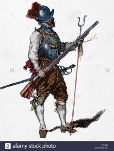 Arquebusier. Soldier Armed With An Arquebus. Infantry Regiment. 16th Stock Photo, Royalty Free Image: 103241121 - Alamy