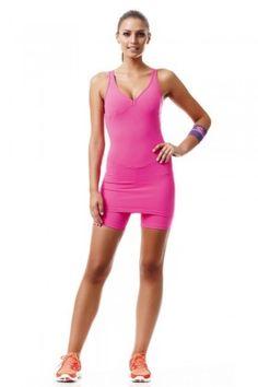 Macaquinho Power Pink Caju Brasil 3789F7 Dani Banani Moda Fitness