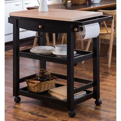 Furniture of America Antennie Black Mobile Kitchen Cart - Overstock™ Shopping - Great Deals on Furniture of America Kitchen Carts
