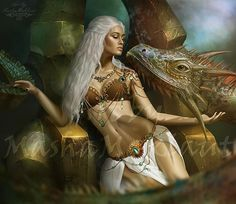 Daenerys Targaryen. Reygal by mashamaklaut.deviantart.com on @deviantART