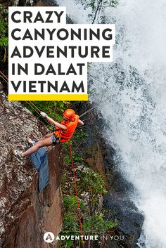 Planning to go canyoning in Dalat vietnam? Read up on our experience swinging through ropes and rapelling down waterfalls