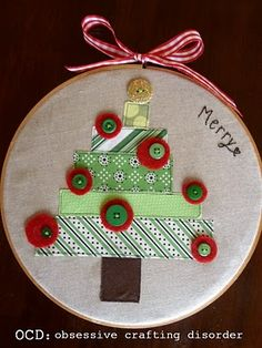 ocd: obsessive crafting disorder: Gifts revealed: More Christmas Hoop-lah!