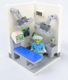 Well, I did reuse a lot from a surgeon vig I did earlier for my custom surgeon. Collectible minifig series 6 vigs are finally here! Yes, a bit late, I know… Legos, Lego Kitchen, Lego Hospital, Lego Furniture, Minecraft Furniture, Lego Activities, Lego Blocks, Lego For Kids, Lego Modular