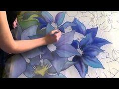 beautiful silk painting demonstration