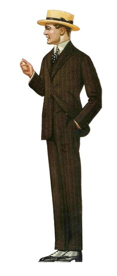 Antique Images: Free Father's Day Clip Art: Men's Fashion from Antique 1917 Clothes Catalog