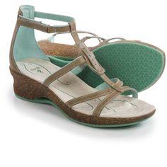 Own it: Ahnu Alta Leather Sandals in Goat, sz 8. Sierra Trading Post, 4/17/16, $48.