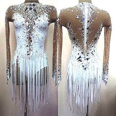Ballroom Costumes, Jazz Costumes, Stage Outfits, Dance Outfits, Latin Ballroom Dresses, Latin Dresses, Ballroom Dancing, Salsa Dress, Figure Skating Dresses