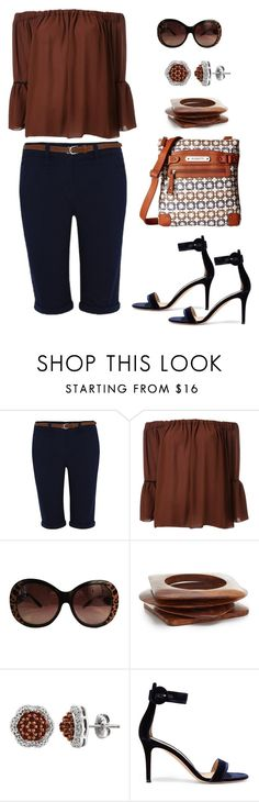 """""""Untitled #1054"""" by gallant81 ❤ liked on Polyvore featuring George, Le Ciel Bleu, Just Cavalli, Kenneth Jay Lane, Gianvito Rossi and Rosetti"""